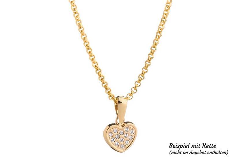 Anhänger Herz mit Zirkonia - 333 Gelbgold 3-09432JLG