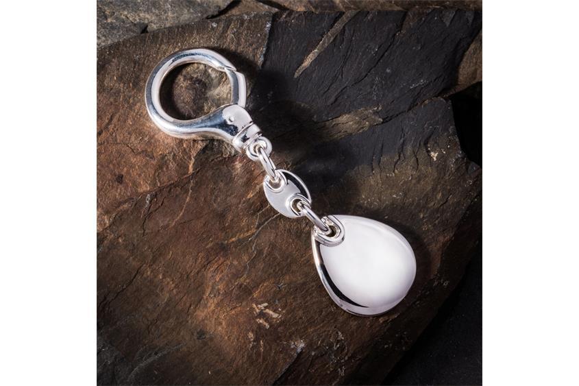 Schlüsselanhänger mit Gravurplatte - 925 Silber 2824