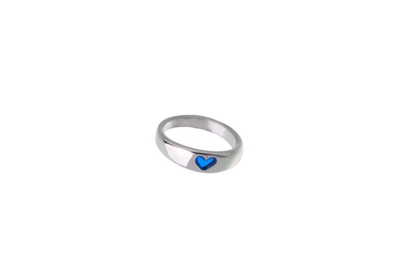 Schmuckset Taufe I  925  silber Schmuckset Kette mit Taufring, blau