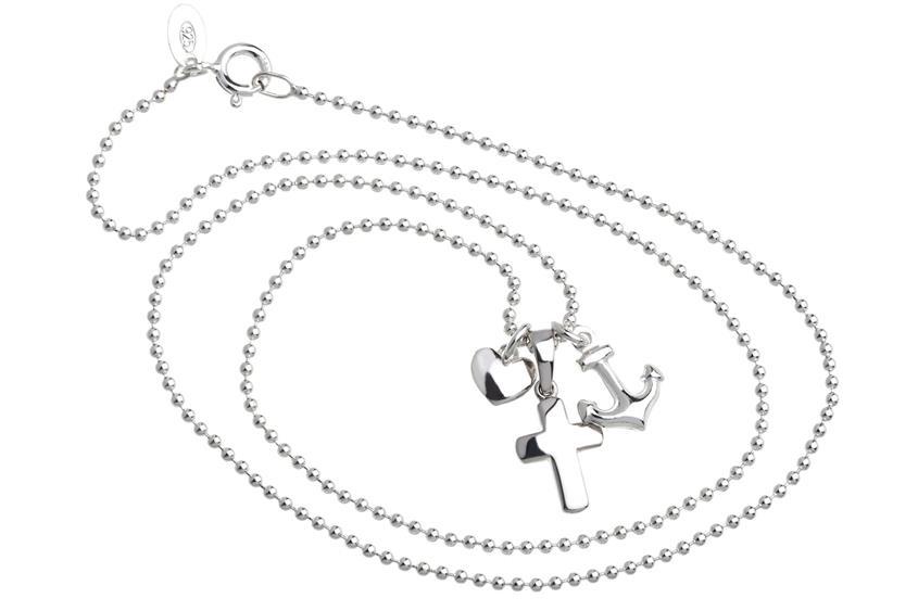 Halskette -  Glaube, Liebe, Hoffnung - 925 Silber