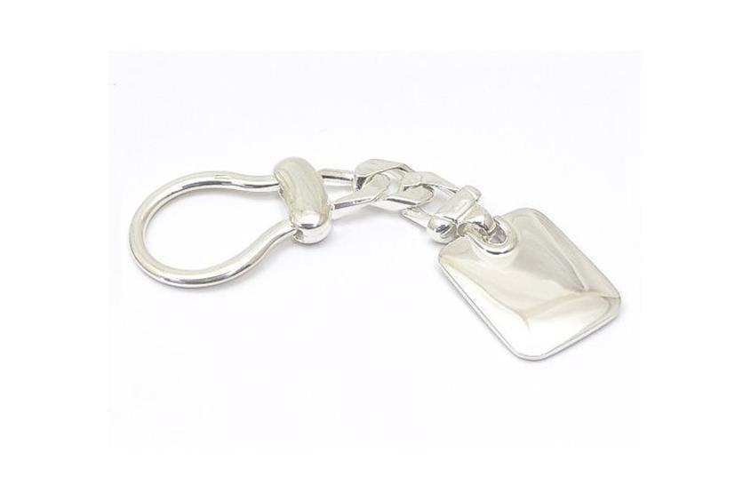 Schlüsselanhänger mit Gravurplatte - 925 Silber 3225
