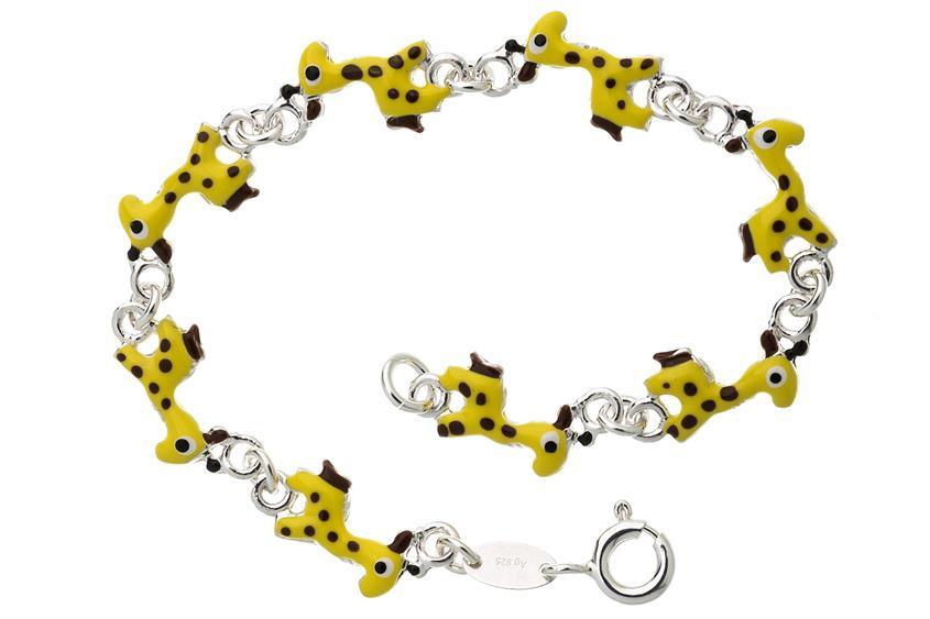 Kinder-Armband Giraffen - 925 Silber
