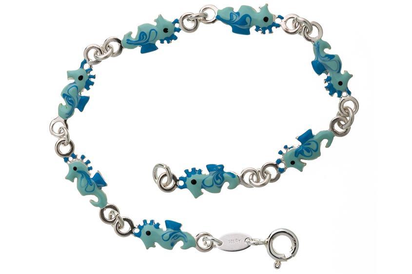 Kinder-Armband Seepferd - 925 Silber