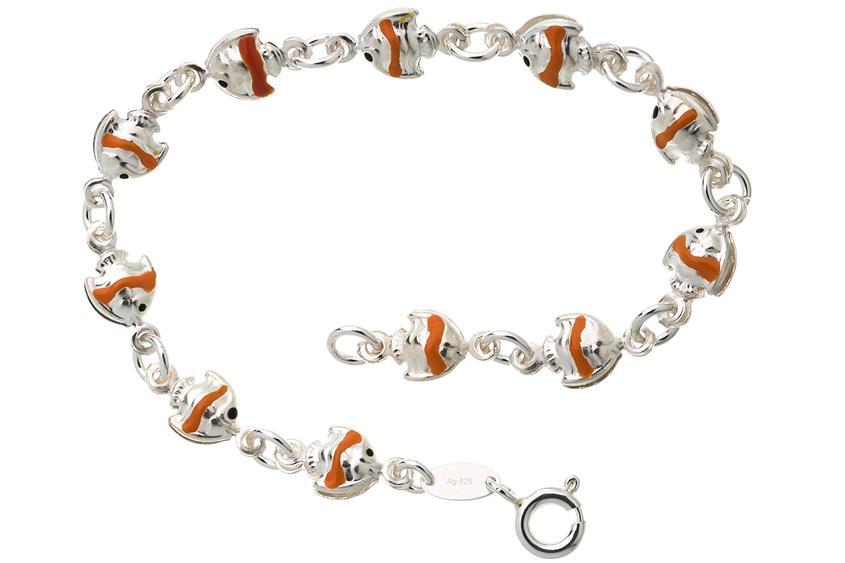 Kinder-Armband Fische - 925 Silber