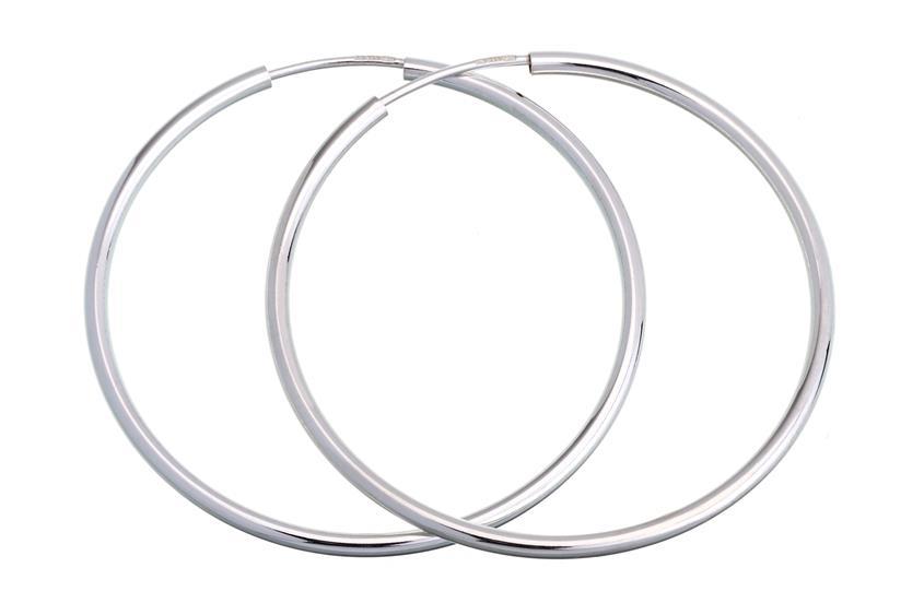 Creolen, Durchmesser 4cm - 925 Silber