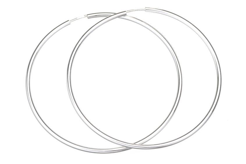 Creolen, Durchmesser 6cm - 925 Silber