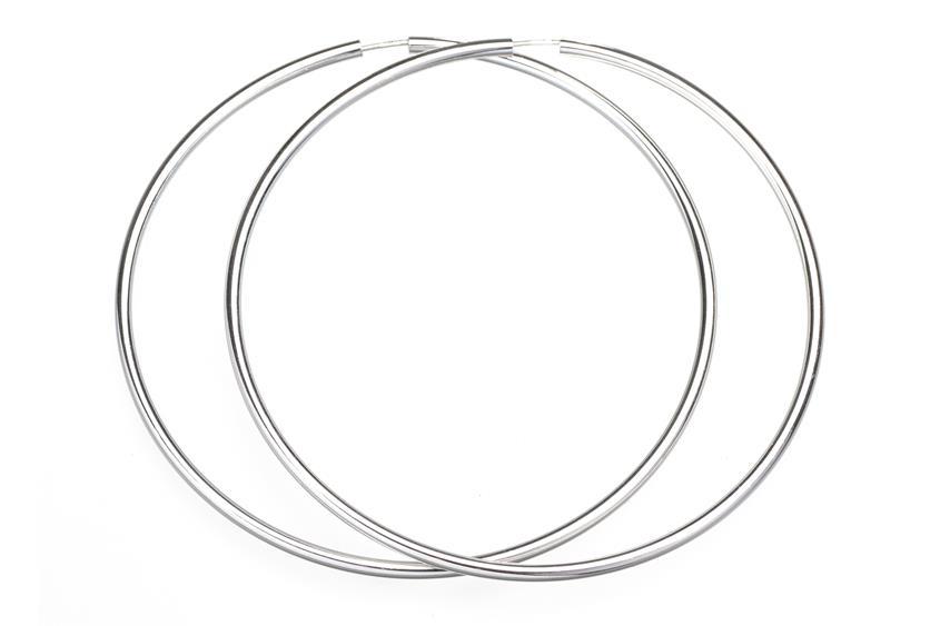 Creolen, Durchmesser 8cm - 925 Silber