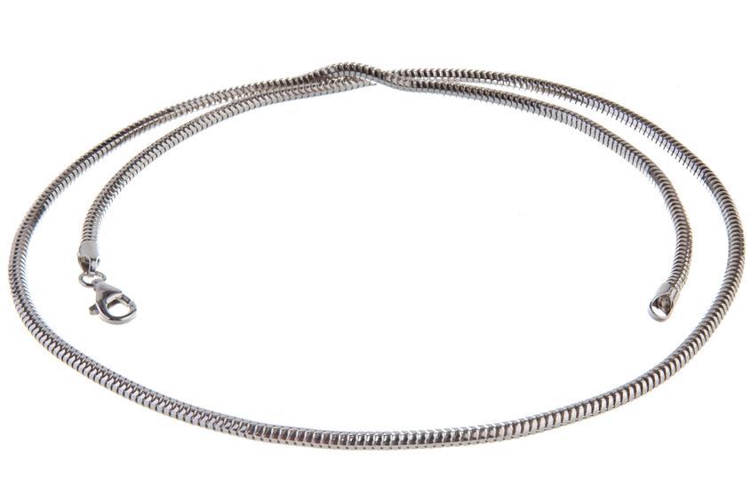 Schlangenkette, achtkant 3mm - 925 Silber