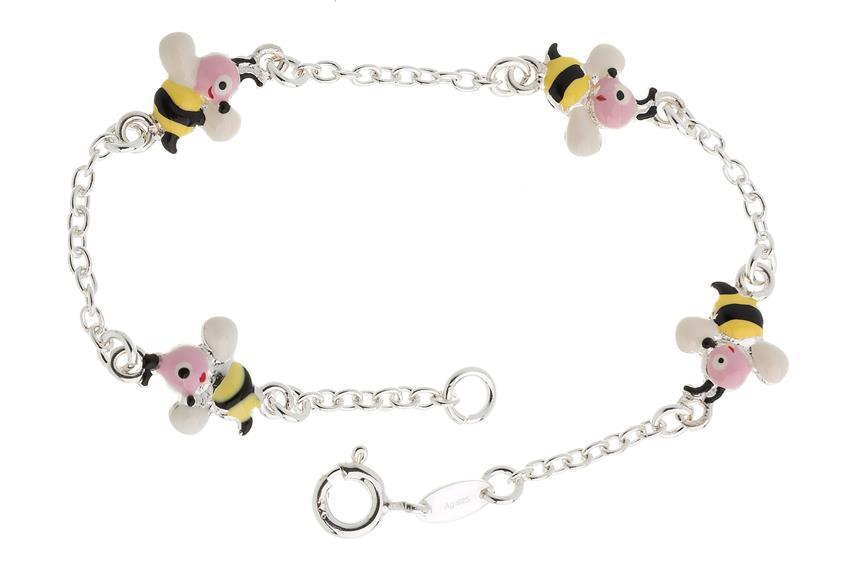 Kinder-Armband mit 4 Bienen - 925 Silber