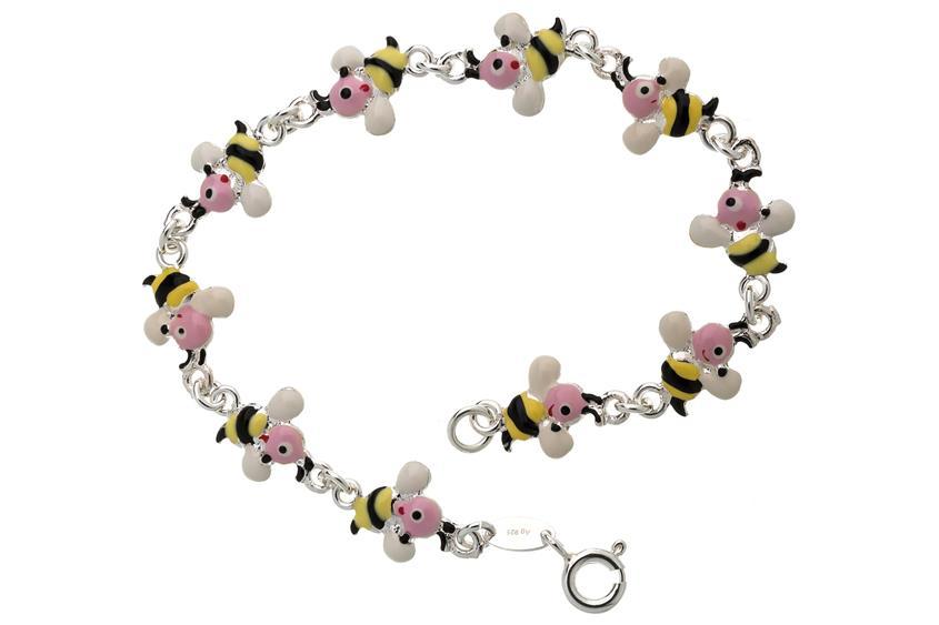 Kinder-Armband Bienen - 925 Silber