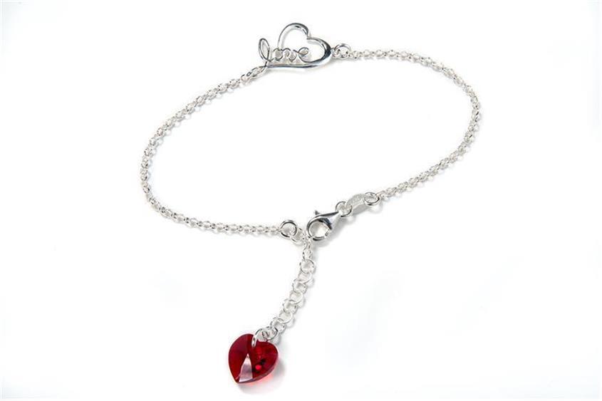 Armband mit Anhänger Herz - 925 Silber - BK5244 Länge: 17,5-20cm