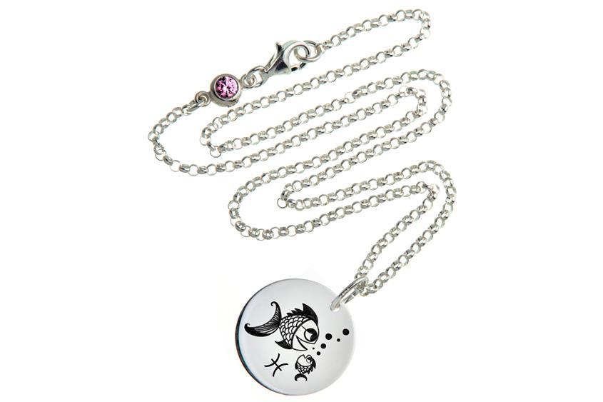 Kinder Kette ChainMAGPIE mit Sternzeichen Fische - 925 Silber 925 Silber