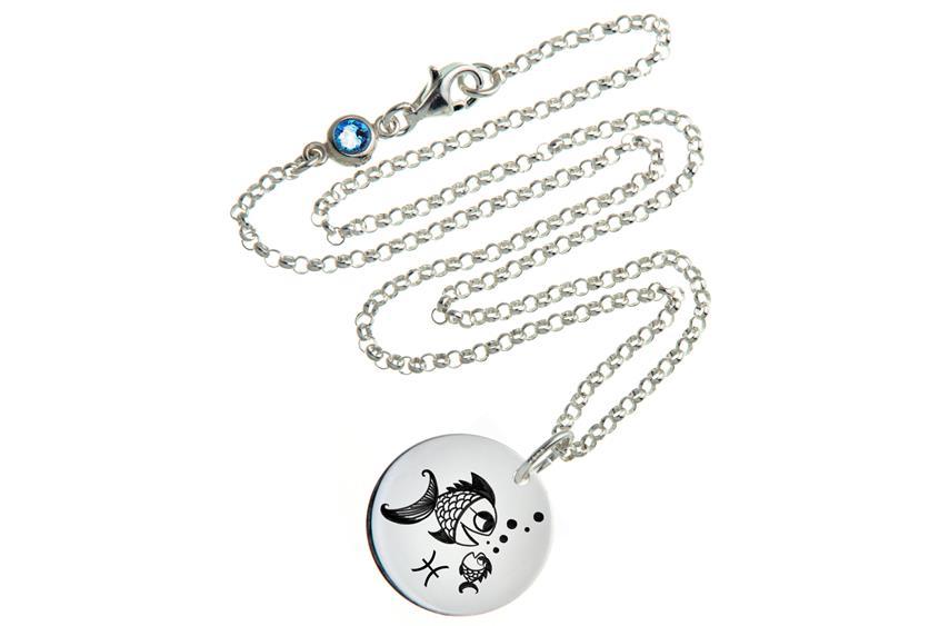 Kinder Kette ChainMAGPIE mit Sternzeichen Fische J - 925 Silber 925 Silber