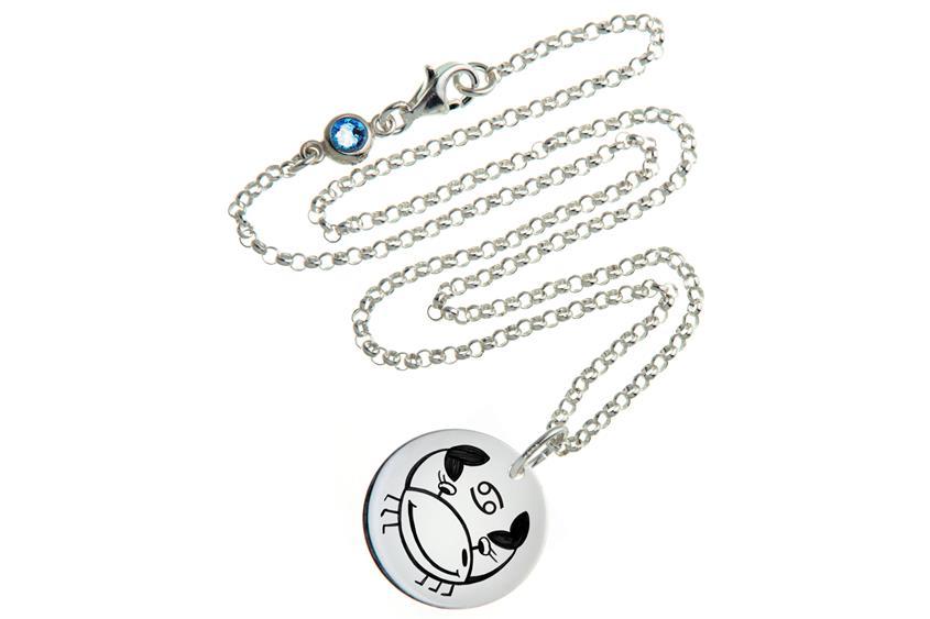 Kinder Kette ChainMAGPIE mit Sternzeichen Krebs J - 925 Silber 925 Silber