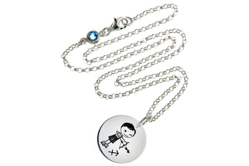 Kinder Kette ChainMAGPIE mit Sternzeichen Schütze J - 925 Silber 925 Silber