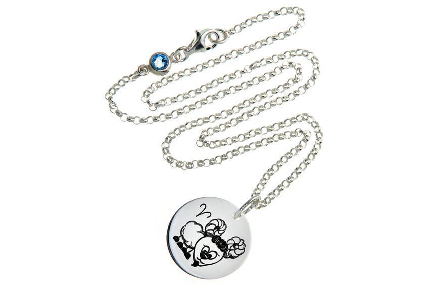 Kinder Kette ChainMAGPIE mit Sternzeichen Widder J - 925 Silber 925 Silber