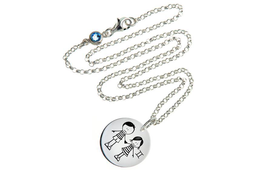 Kinder Kette ChainMAGPIE mit Sternzeichen Zwilling JJM - 925 Silber 925 Silber