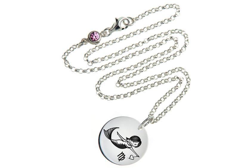 Kinder Kette ChainMAGPIE mit Sternzeichen Jungfrau - 925 Silber 925 Silber