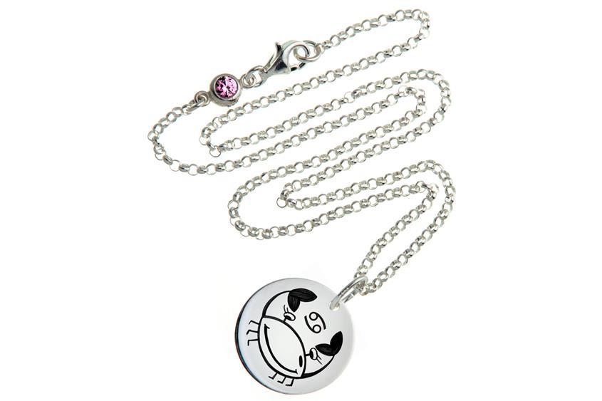 Kinder Kette ChainMAGPIE mit Sternzeichen Krebs - 925 Silber 925 Silber