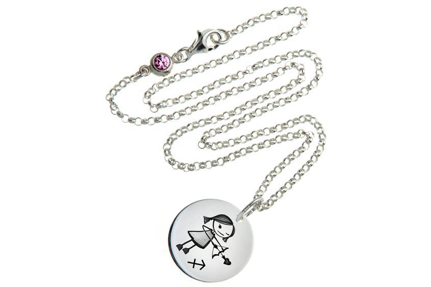 Kinder Kette ChainMAGPIE mit Sternzeichen Schütze M - 925 Silber 925 Silber
