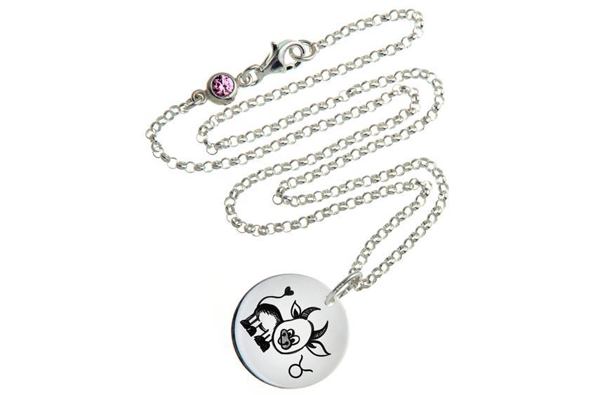 Kinder Kette ChainMAGPIE mit Sternzeichen Stier - 925 Silber 925 Silber