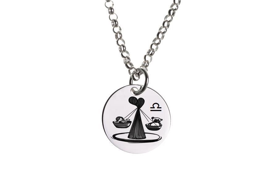Kinder Kette ChainMAGPIE mit Sternzeichen Waage - 925 Silber 925 Silber