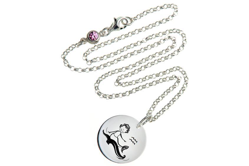 Kinder Kette ChainMAGPIE mit Sternzeichen Wassermann - 925 Silber 925 Silber