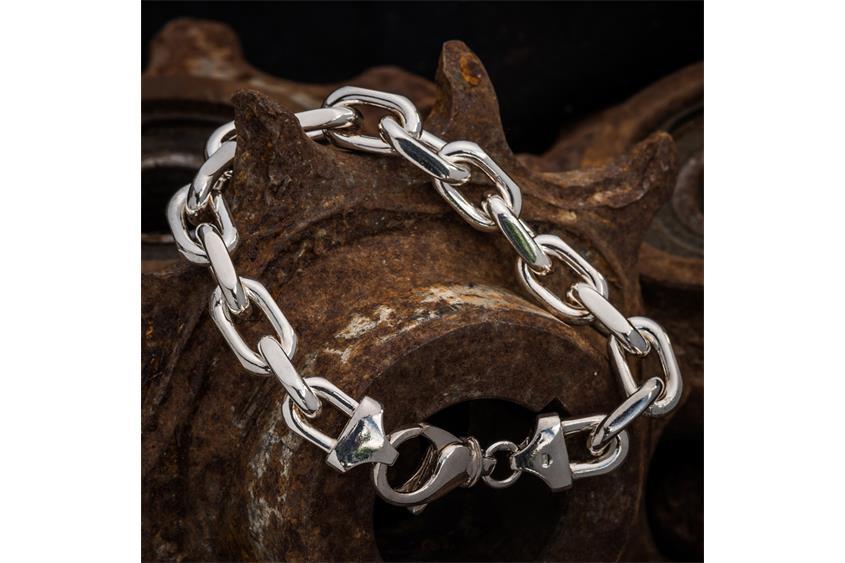 Ankerkette Armband 12mm - 925 Silber