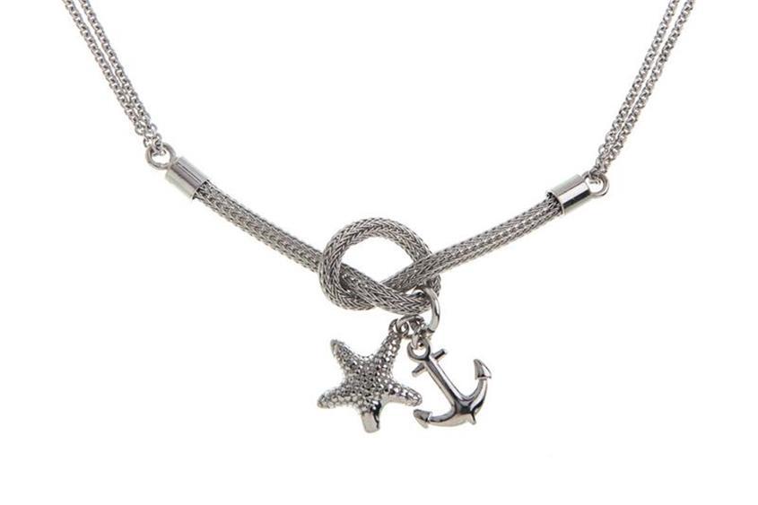 Armband mit Anhänger Anker und Stern - 925 Silber