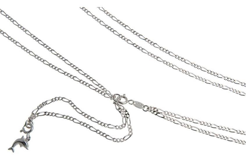 Bauchkette Figaro 2reihig - 925 Silber