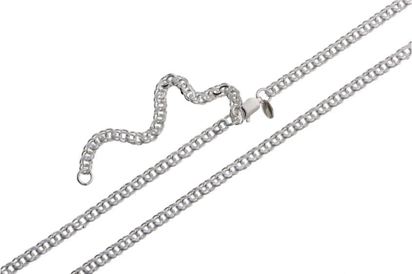 Bauchkette Garibaldi 3,6mm - 925 Silber