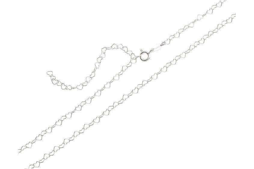 Bauchkette Herzen klein - 925 Silber