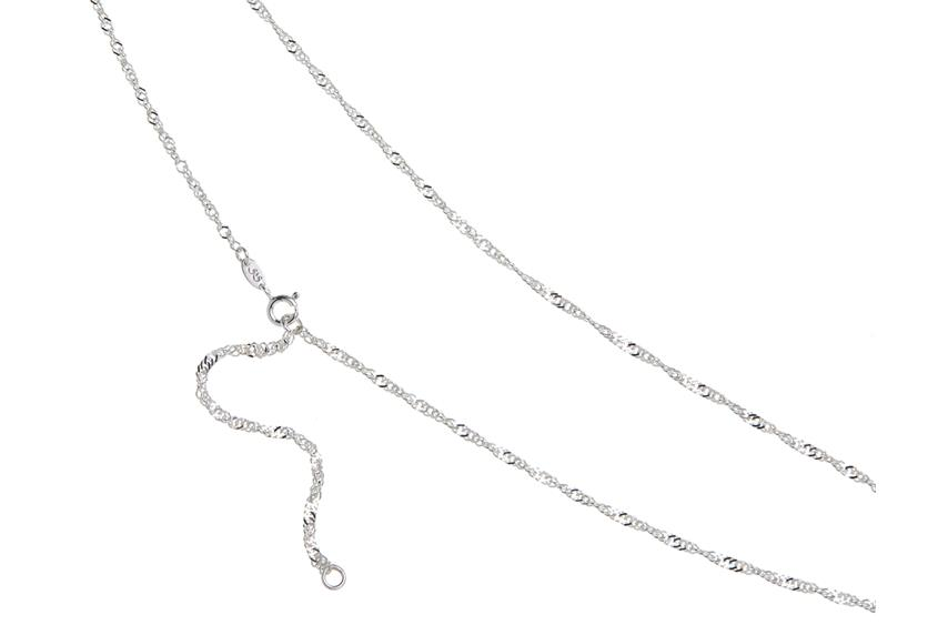 Bauchkette Singapur 2,3mm - 925 Silber