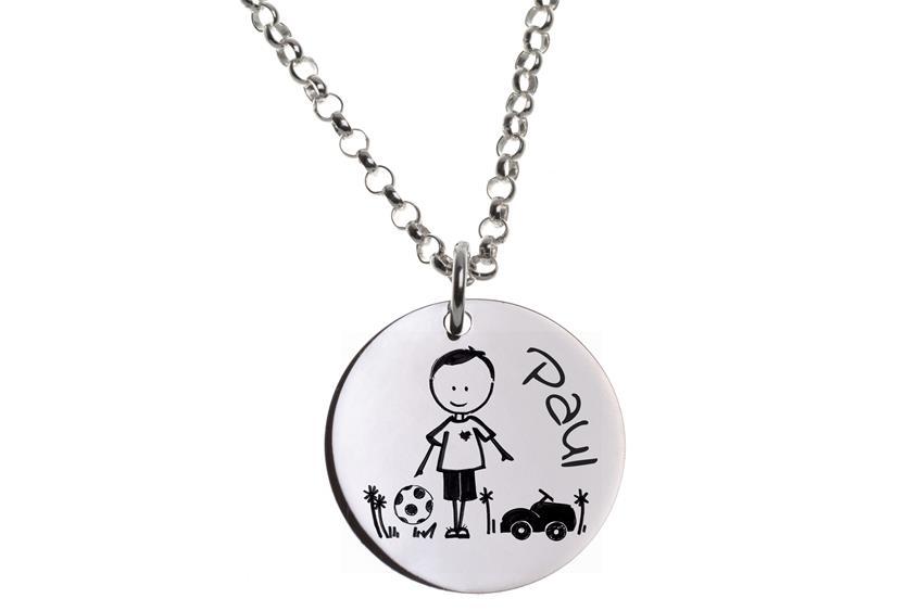 Kinder Kette mit Gravuranhänger Boy ChainMAGPIE - 925 Silber 925 Silber