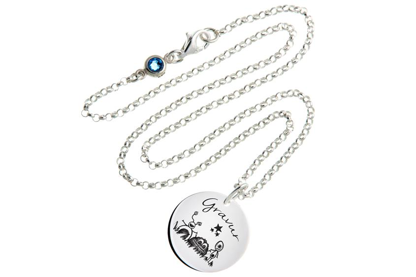 Kinder Kette mit Gravuranhänger Trilliesl ChainMAGPIE - 925 Silber ChainMAGPIE 925 Silber