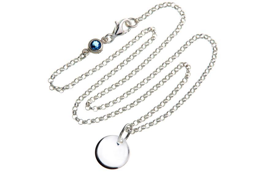 Kinder Kette mit Gravuranhänger S - ChainMAGPIE 925 Silber 925 Silber