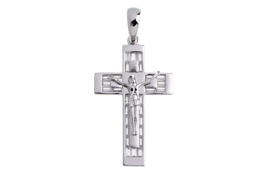 Anhänger Kreuz - 925 Silber Meiy02