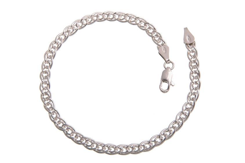 Doppelpanzerkette Armband 4,6mm - 925 Silber