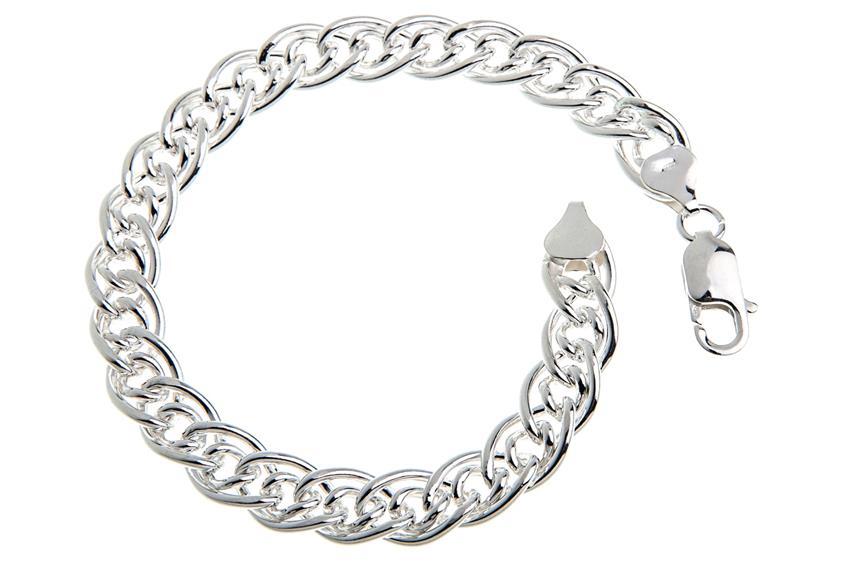 Doppelpanzerkette Armband 8,5mm - 925 Silber