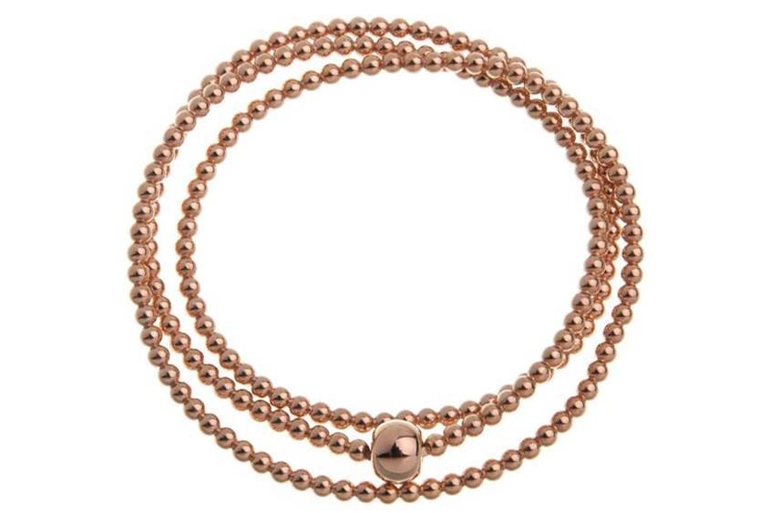 Elastic Elements Armband 3fach 925 Silber, rosé vergoldet