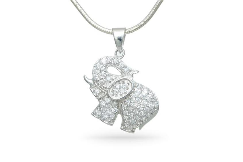 Anhänger Elefant - 925 Silber