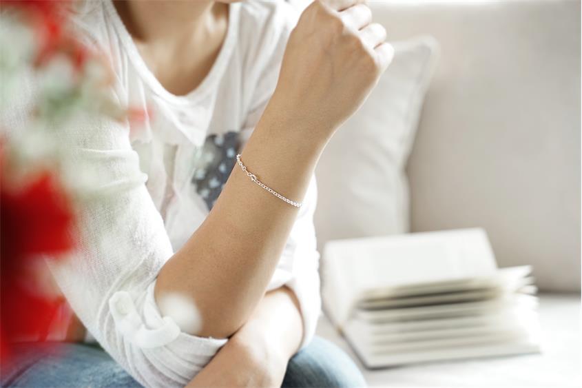 Erbskette Armband 2,2mm - 925 Silber