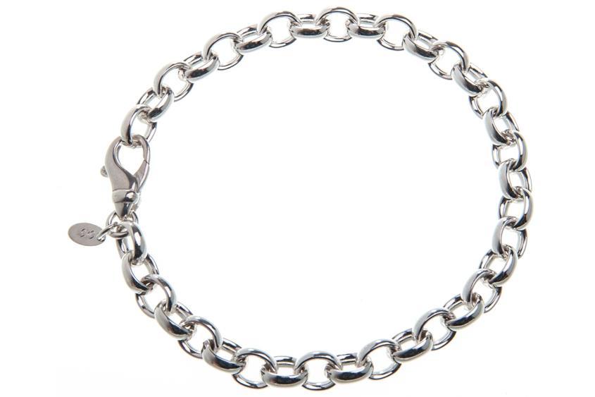 Erbskette Armband 7mm - 925 Silber