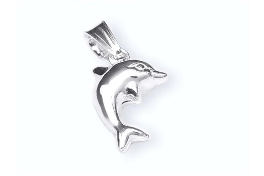 Anhänger Delphin - 925 Silber
