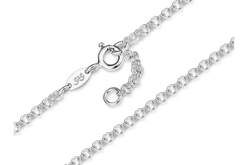 Doppelerbskette Fußkette 2,4mm - 925 Silber