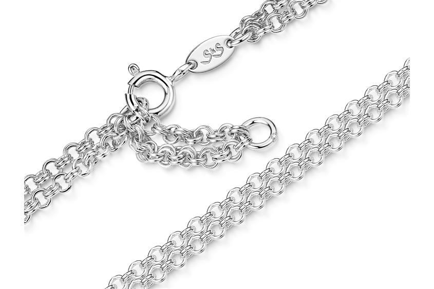 Doppelerbskette Fußkette 2-reihig 2,4mm - 925 Silber