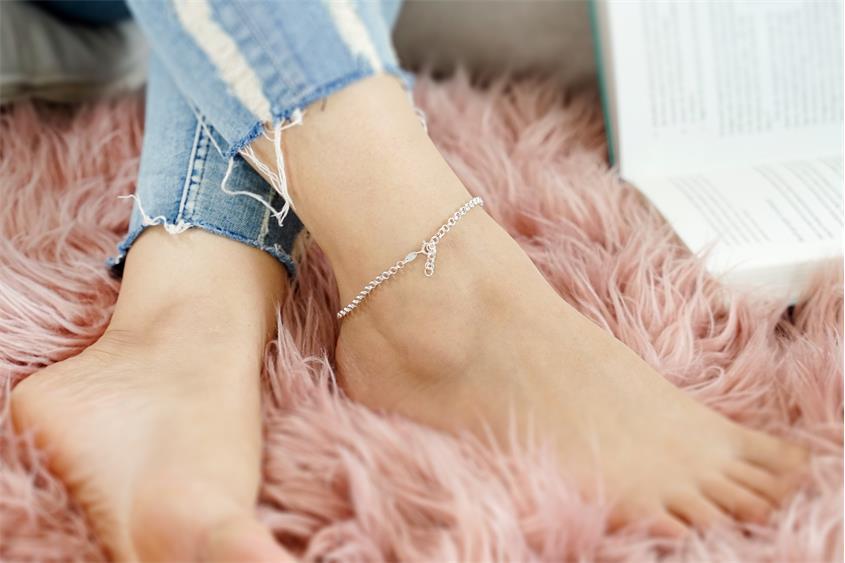 Doppelerbskette Fußkette 3,6mm - 925 Silber
