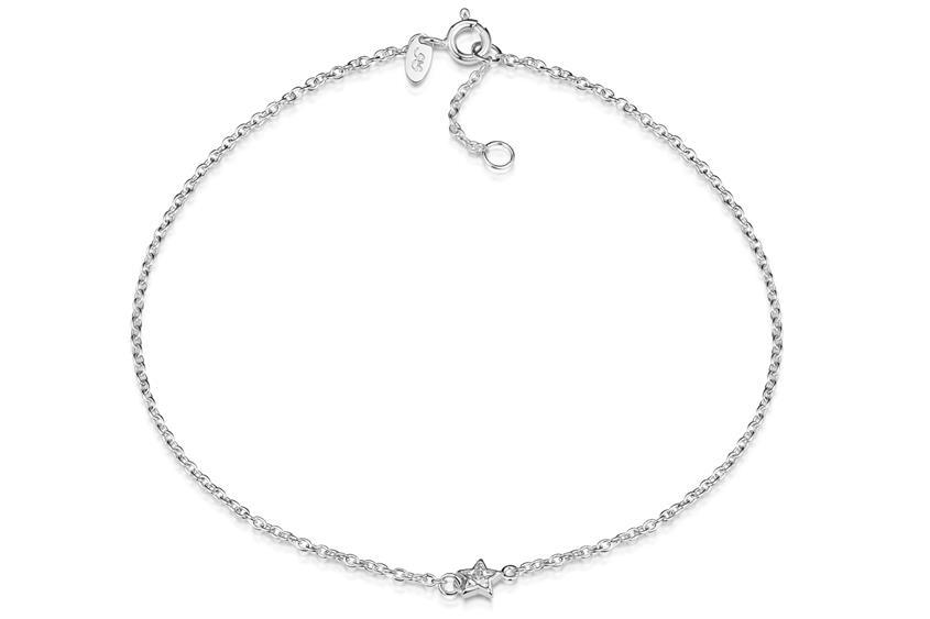 Fußkette Erbse 1,6 mit Stern - 925 Silber