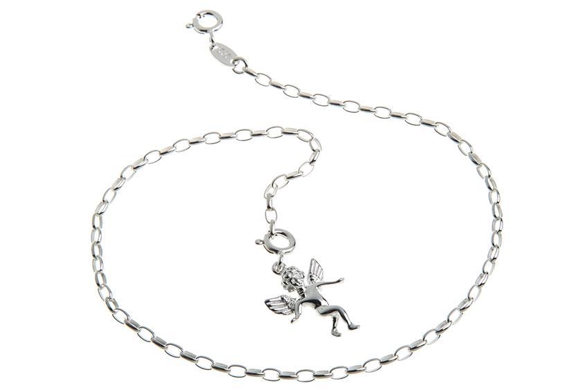 Fußkette Rundanker 2,3mm - 925 Silber