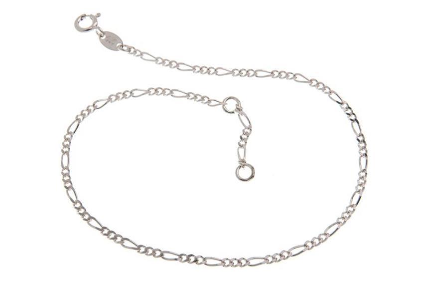 Fußkette Figaro 2,2mm - 925 Silber wahlweise mit Anhänger